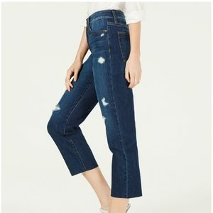 REWASH Ripped Cropped High Rise Jeans, 3R